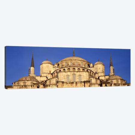 Low angle view of a mosque, Blue Mosque, Istanbul, Turkey Canvas Print #PIM6722} by Panoramic Images Art Print