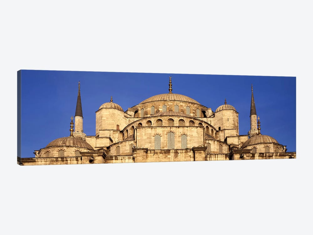 Low angle view of a mosque, Blue Mosque, Istanbul, Turkey by Panoramic Images 1-piece Canvas Print