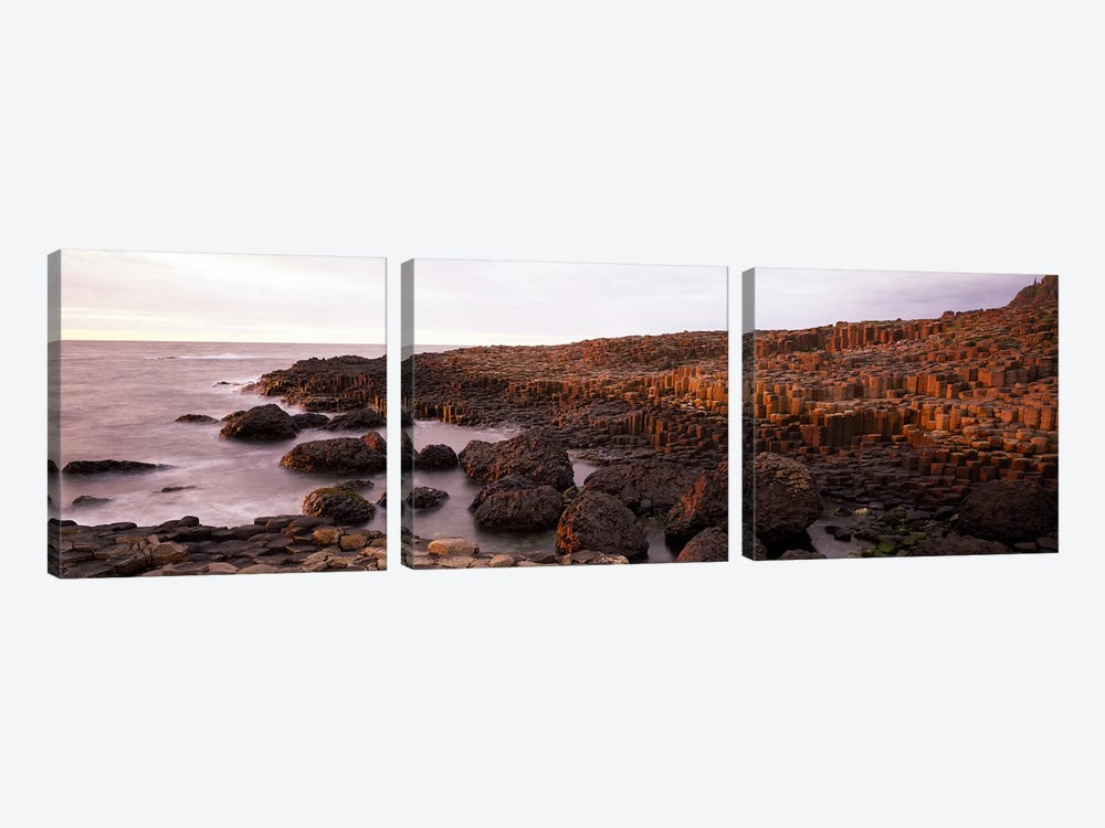 Basalt columns of Giant's Causeway, Antrim Coast, Northern Ireland. by Panoramic Images 3-piece Art Print