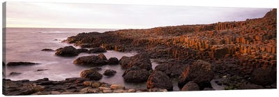 Basalt columns of Giant's Causeway, Antrim Coast, Northern Ireland. Canvas Art Print