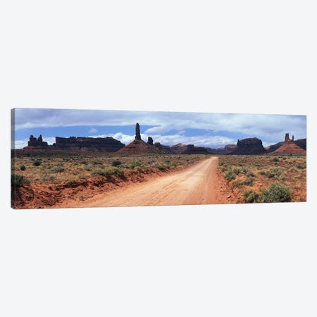 View From Scenic Loop, Valley Of The Gods, Bears Ears National Monument, San Juan County, Utah Canvas Print #PIM6737} by Panoramic Images Canvas Art Print