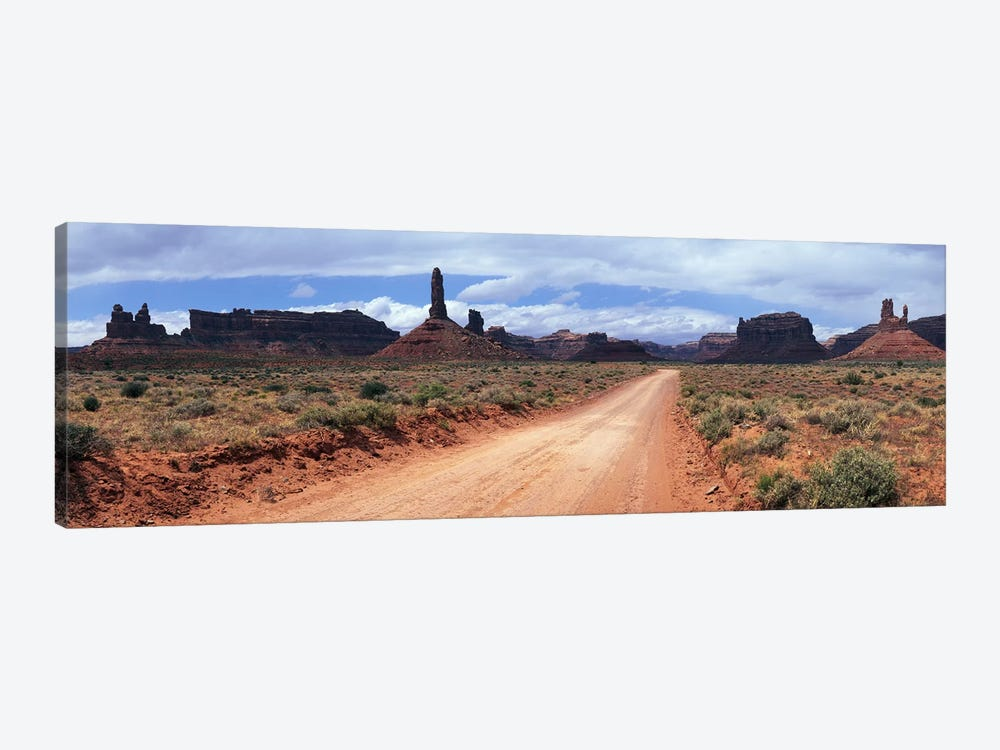 View From Scenic Loop, Valley Of The Gods, Bears Ears National Monument, San Juan County, Utah by Panoramic Images 1-piece Canvas Print