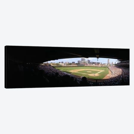 High angle view of a baseball stadium, Wrigley Field, Chicago, Illinois, USA Canvas Print #PIM6739} by Panoramic Images Canvas Art