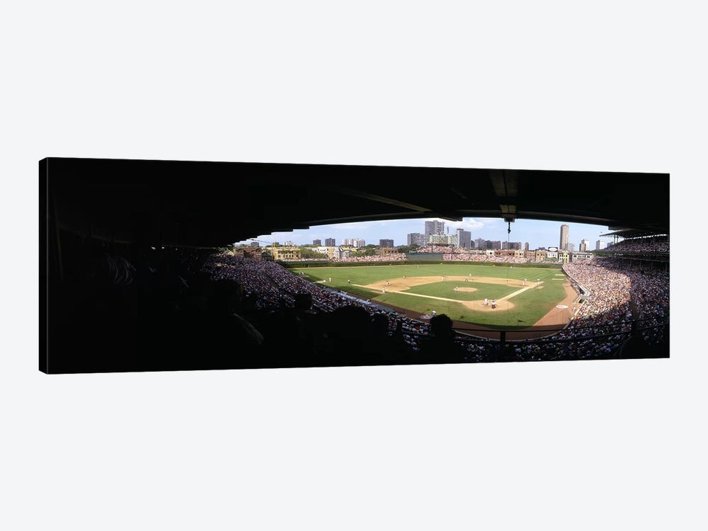 High angle view of a baseball stadium, Wrigley Field, Chicago, Illinois, USA by Panoramic Images 1-piece Art Print