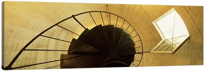 Low angle view of a spiral staircase of a lighthouse, Key West lighthouse, Key West, Florida, USA Canvas Art Print