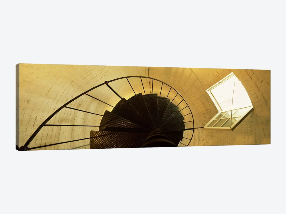 Low angle view of a spiral staircase of a lighthouse, Key West lighthouse, Key West, Florida, USA 1-piece Art Print