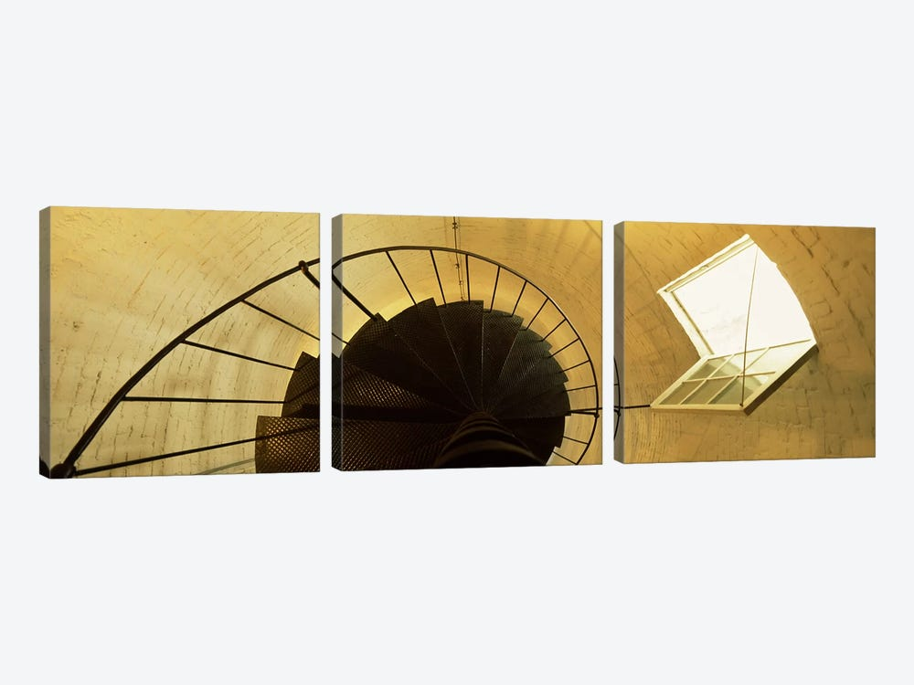 Low angle view of a spiral staircase of a lighthouse, Key West lighthouse, Key West, Florida, USA by Panoramic Images 3-piece Art Print