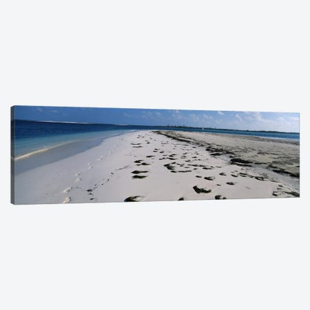 Footprints on the beach, Cienfuegos, Cienfuegos Province, Cuba Canvas Print #PIM6757} by Panoramic Images Canvas Print