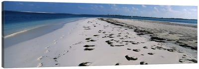 Footprints on the beach, Cienfuegos, Cienfuegos Province, Cuba Canvas Print #PIM6757