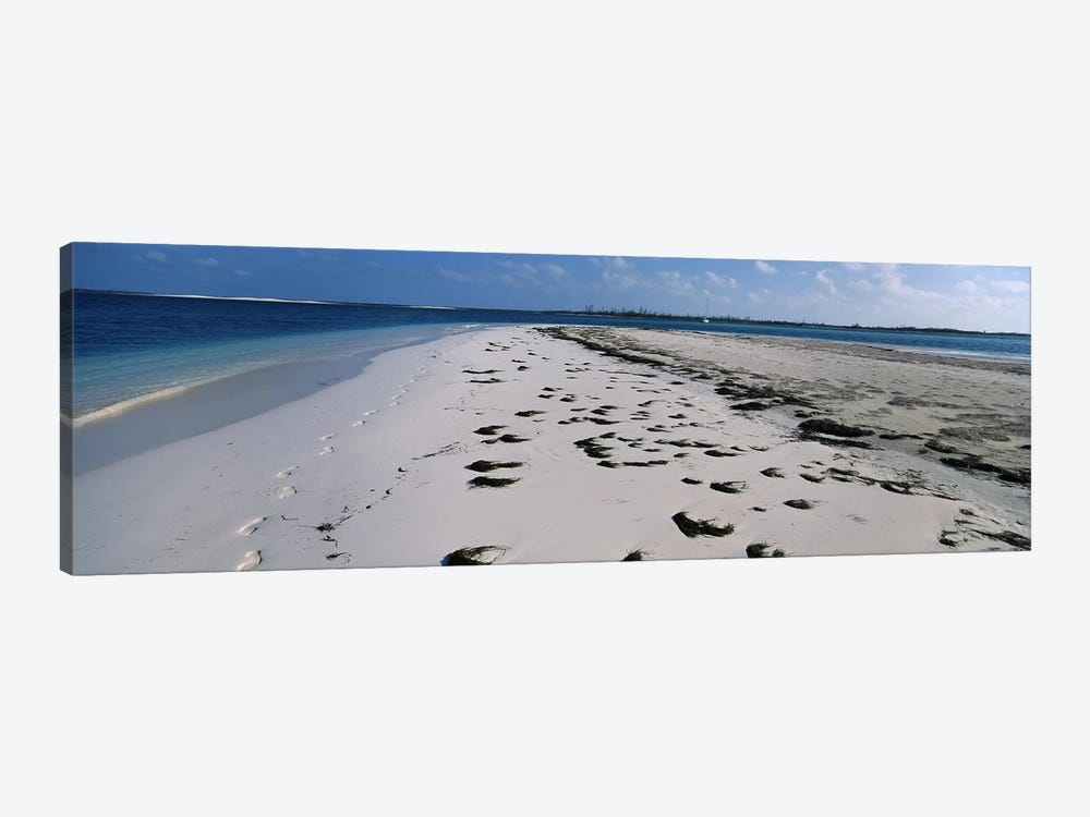 Footprints on the beach, Cienfuegos, Cienfuegos Province, Cuba by Panoramic Images 1-piece Canvas Print