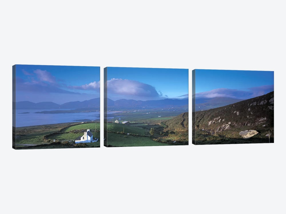Distant View Of Allihies, County Cork, Munster Province, Republic Of Ireland by Panoramic Images 3-piece Canvas Artwork