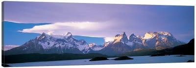 Clouds Over Cordillera del Paine, Torres del Paine National Park, Patagonia, Chile Canvas Art Print