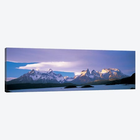 Clouds Over Cordillera del Paine, Torres del Paine National Park, Patagonia, Chile Canvas Print #PIM6768} by Panoramic Images Art Print