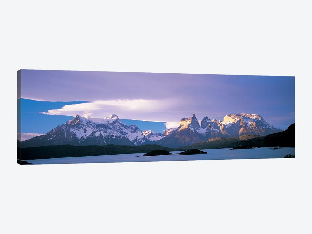 Clouds Over Cordillera del Paine, Torres del Paine National Park, Patagonia, Chile 1-piece Art Print