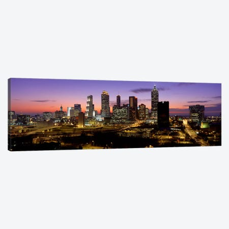 Skyline At Dusk, Cityscape, Skyline, City, Atlanta, Georgia, USA Canvas Print #PIM676} by Panoramic Images Canvas Artwork