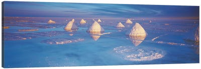 Salt pyramids on salt flat, Salar De Uyuni, Potosi, Bolivia Canvas Print #PIM6775