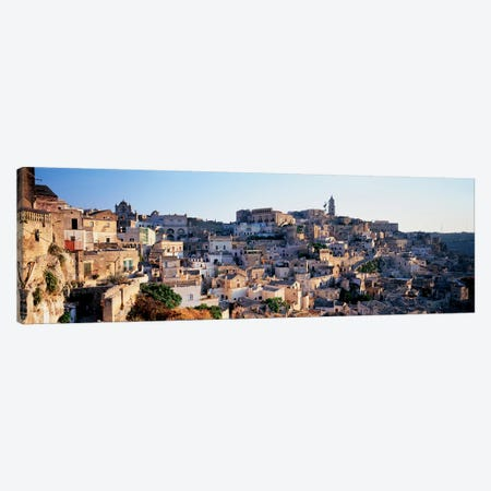 Sassi di Matera (Sasso Caveoso & Sasso Barisano) Matera, Basilicata, Italy Canvas Print #PIM6782} by Panoramic Images Canvas Print