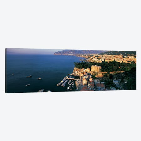 High-Angel View Of Sorrento & Bay Of Naples, Campania, Italy Canvas Print #PIM6786} by Panoramic Images Canvas Artwork
