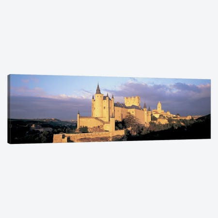 Clouds over a castle, Alcazar Castle, Old Castile, Segovia, Madrid Province, Spain Canvas Print #PIM6789} by Panoramic Images Art Print