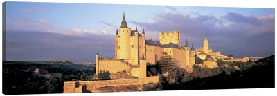 Clouds over a castle, Alcazar Castle, Old Castile, Segovia, Madrid Province, Spain Canvas Art Print
