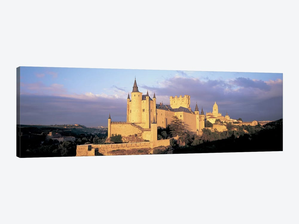 Clouds over a castle, Alcazar Castle, Old Castile, Segovia, Madrid Province, Spain by Panoramic Images 1-piece Canvas Art