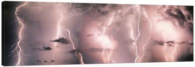 Lightning Storm In A Purple Sky Canvas Print #PIM678