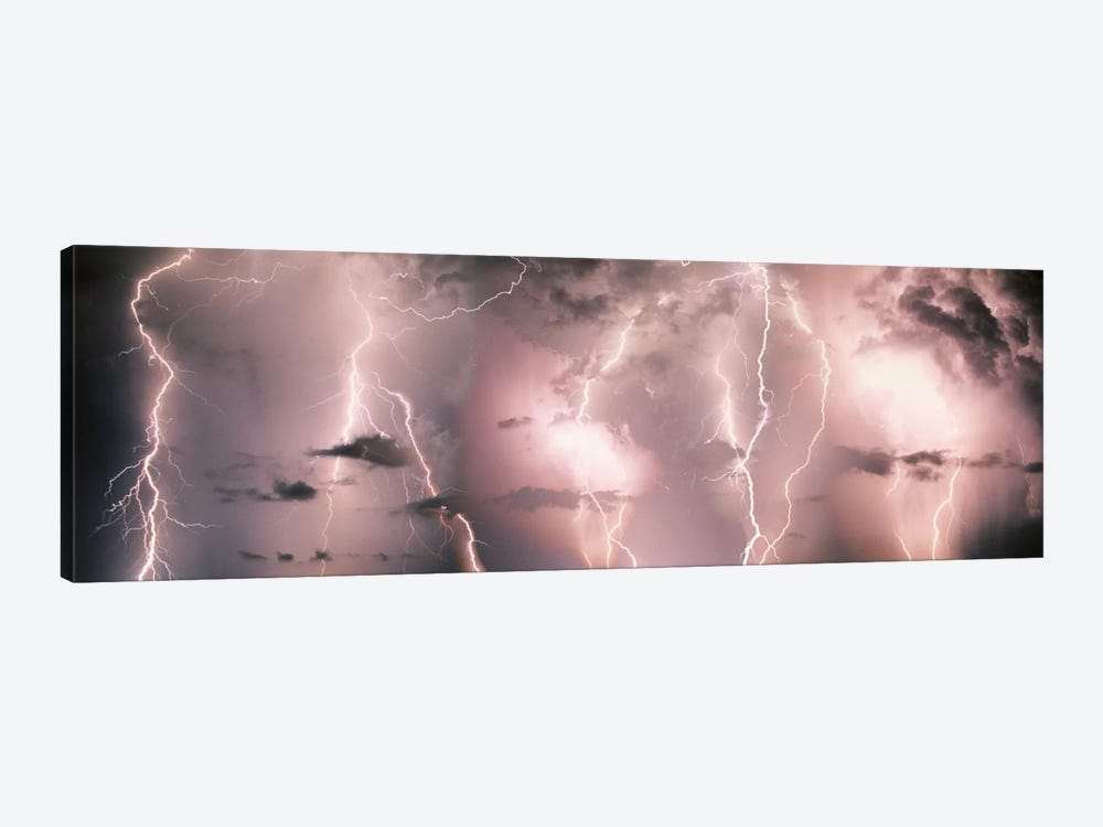 Lightning Storm In A Purple Sky by Panoramic Images 1-piece Art Print