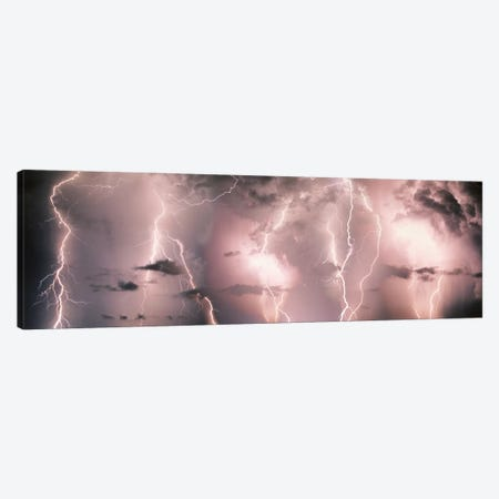 Lightning Storm In A Purple Sky Canvas Print #PIM678} by Panoramic Images Canvas Print