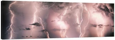 Lightning Storm In A Purple Sky Canvas Art Print