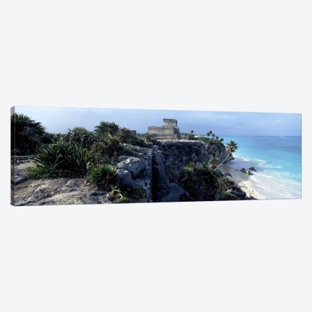 El Castillo, Tulum, Yucatan Peninsula, Quintana Roo, Mexico Canvas Print #PIM6791} by Panoramic Images Canvas Wall Art