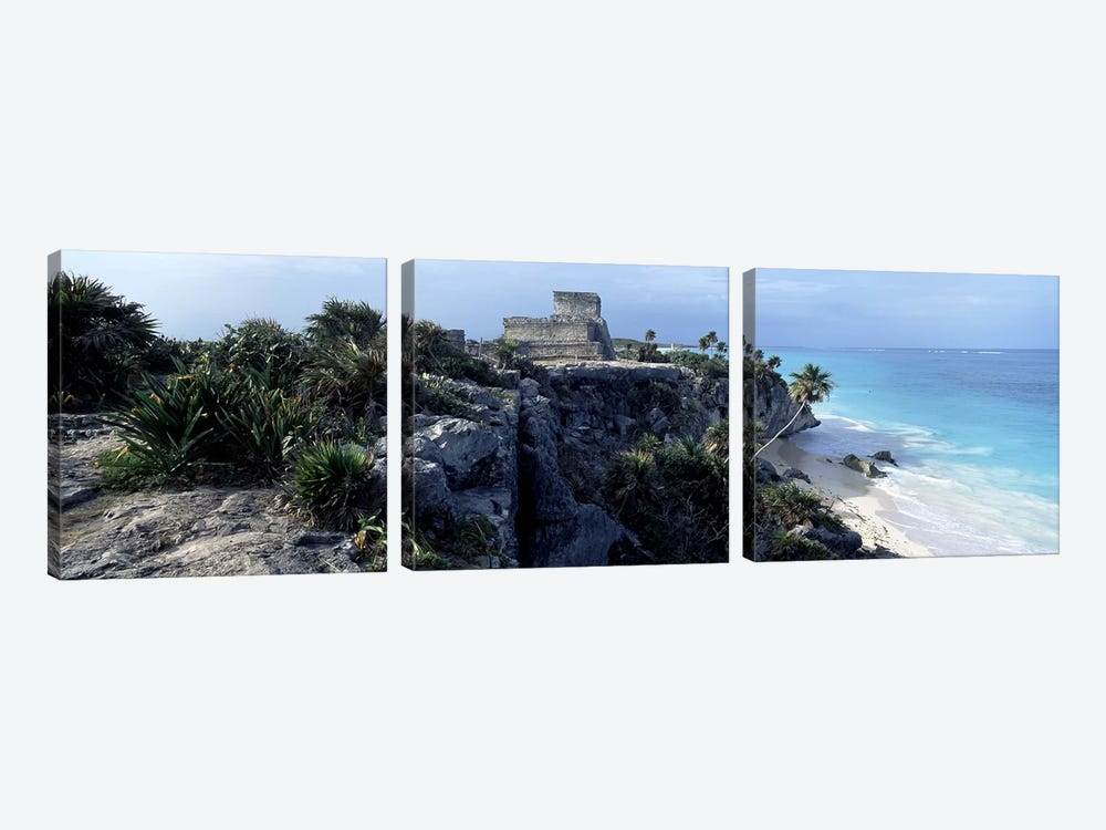 El Castillo, Tulum, Yucatan Peninsula, Quintana Roo, Mexico by Panoramic Images 3-piece Canvas Art Print