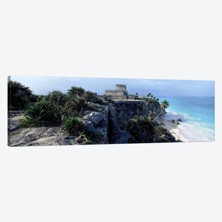 El Castillo, Tulum, Yucatan Peninsula, Quintana Roo, Mexico 3-Piece Canvas #PIM6791} by Panoramic Images Canvas Wall Art