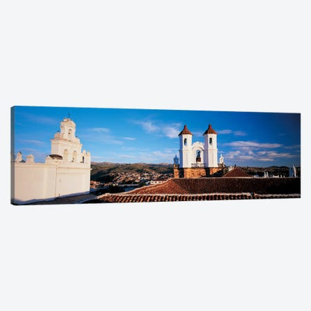 High angle view of a city, San Felipe Neri convent, Church Of La Merced, Sucre, Bolivia #2 Canvas Print #PIM6796} by Panoramic Images Canvas Art Print