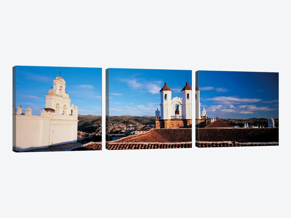 High angle view of a city, San Felipe Neri convent, Church Of La Merced, Sucre, Bolivia #2 by Panoramic Images 3-piece Canvas Wall Art