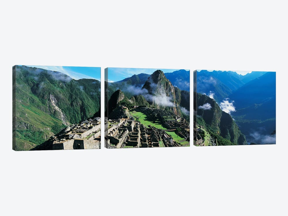 Machu Picchu, Cuzco Region, Peru by Panoramic Images 3-piece Canvas Print