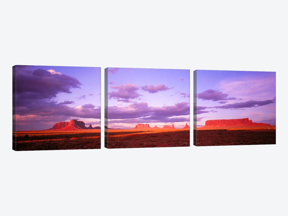 Monument Valley, Arizona, USA by Panoramic Images 3-piece Canvas Art Print