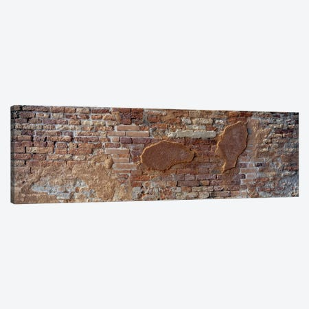Close-Up Of A Brick Wall, Venice, Italy Canvas Print #PIM6802} by Panoramic Images Canvas Wall Art