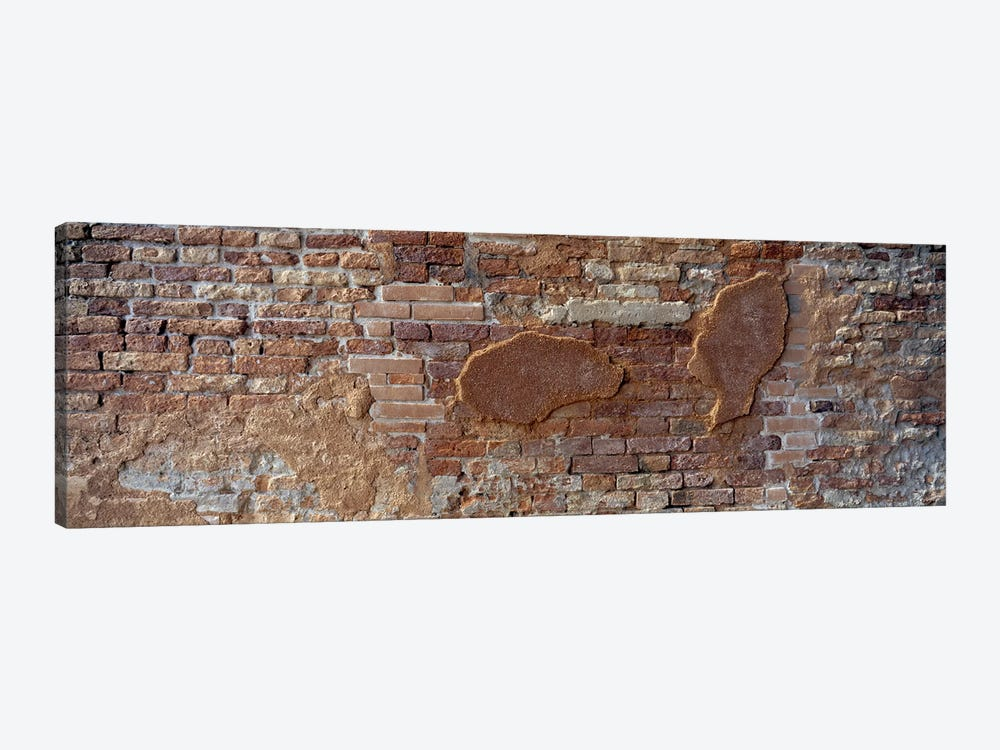 Close-Up Of A Brick Wall, Venice, Italy by Panoramic Images 1-piece Canvas Print