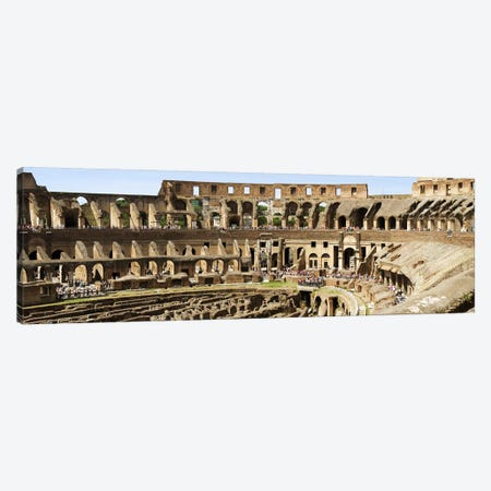 Interiors of an amphitheater, Coliseum, Rome, Lazio, Italy Canvas Print #PIM6804} by Panoramic Images Art Print