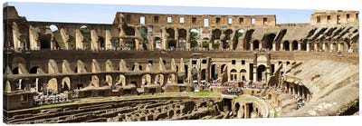Interiors of an amphitheater, Coliseum, Rome, Lazio, Italy Canvas Art Print