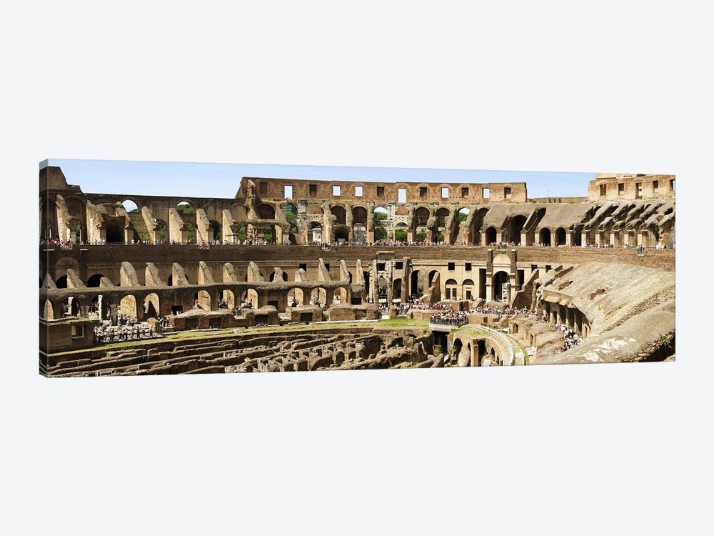 Interiors of an amphitheater, Coliseum, Rome, Lazio, Italy by Panoramic Images 1-piece Canvas Art Print