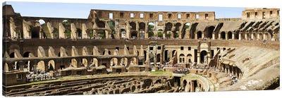 Interiors of an amphitheater, Coliseum, Rome, Lazio, Italy Canvas Art Print