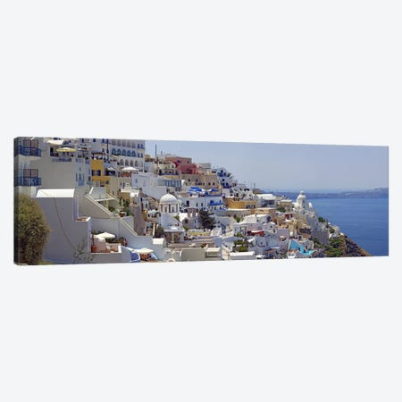 White-Washed Mediterranean Architecture, Fira, Santorini, Cyclades, Greece Canvas Print #PIM6805} by Panoramic Images Art Print