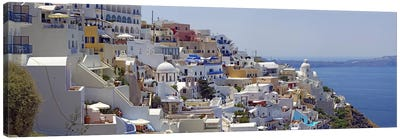 White-Washed Mediterranean Architecture, Fira, Santorini, Cyclades, Greece Canvas Art Print