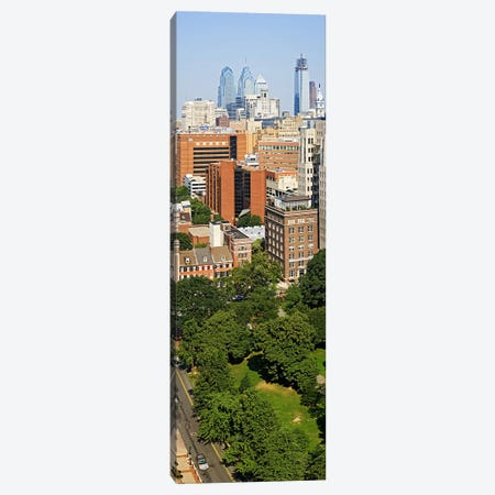 Skyscrapers in a city, Washington Square, Philadelphia, Philadelphia County, Pennsylvania, USA Canvas Print #PIM6807} by Panoramic Images Canvas Art Print