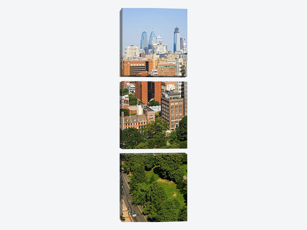 Skyscrapers in a city, Washington Square, Philadelphia, Philadelphia County, Pennsylvania, USA by Panoramic Images 3-piece Canvas Artwork