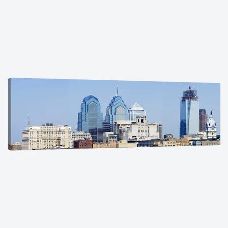 Skyscrapers in a city, Philadelphia, Philadelphia County, Pennsylvania, USA Canvas Print #PIM6808} by Panoramic Images Canvas Art