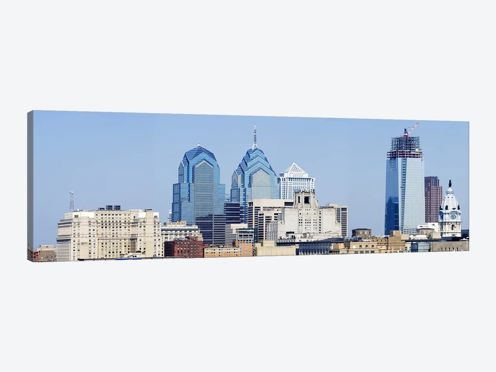 Skyscrapers in a city, Philadelphia, Philadelphia County, Pennsylvania, USA by Panoramic Images 1-piece Art Print
