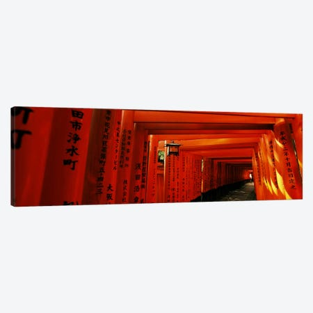 Senbon Torii Path, Fushimi Inari Taisha, Fushimi-ku, Kyoto, Kinki Region, Honshu, Japan Canvas Print #PIM6811} by Panoramic Images Canvas Art Print