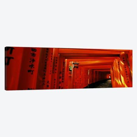 Senbon Torii Path, Fushimi Inari Taisha, Fushimi-ku, Kyoto, Kinki Region, Honshu, Japan Canvas Print #PIM6811} by Panoramic Images Canvas Art Print